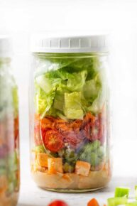 Buffalo Tofu Mason Jar Salad Recipe