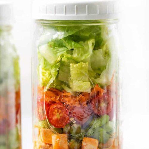 Buffalo Tofu Mason Jar Salad Recipe