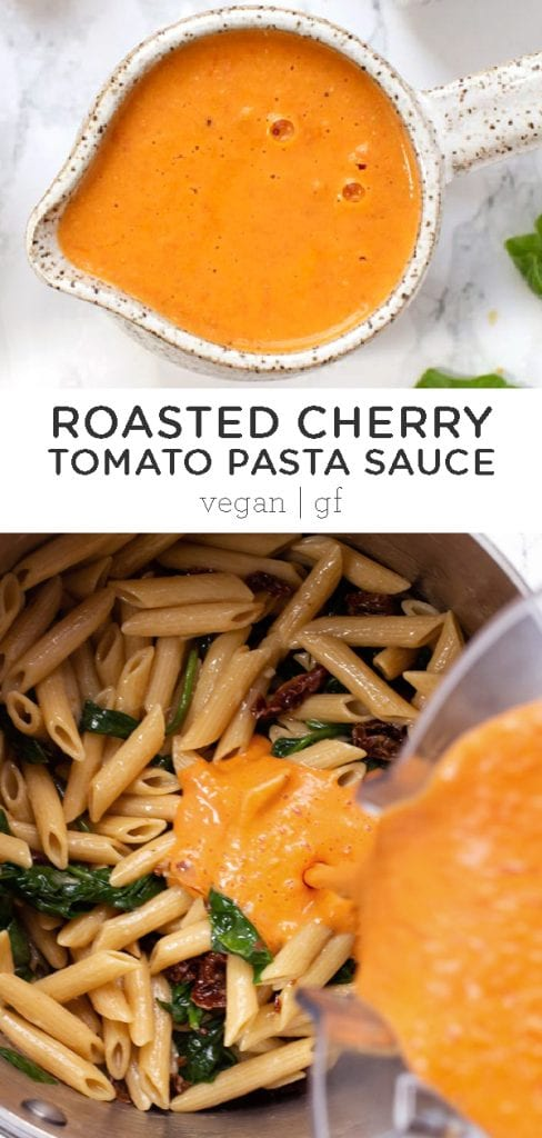 Creamy Roasted Cherry Tomato Pasta Sauce