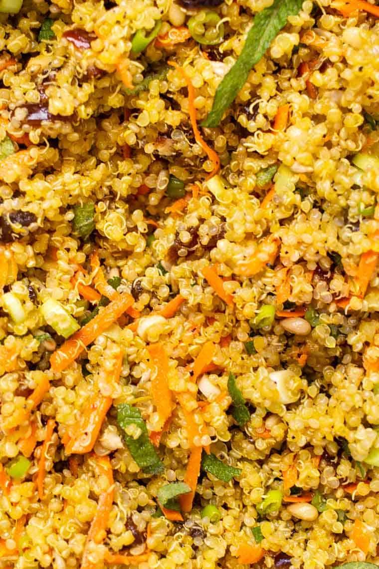 Best Saffron Quinoa Salad