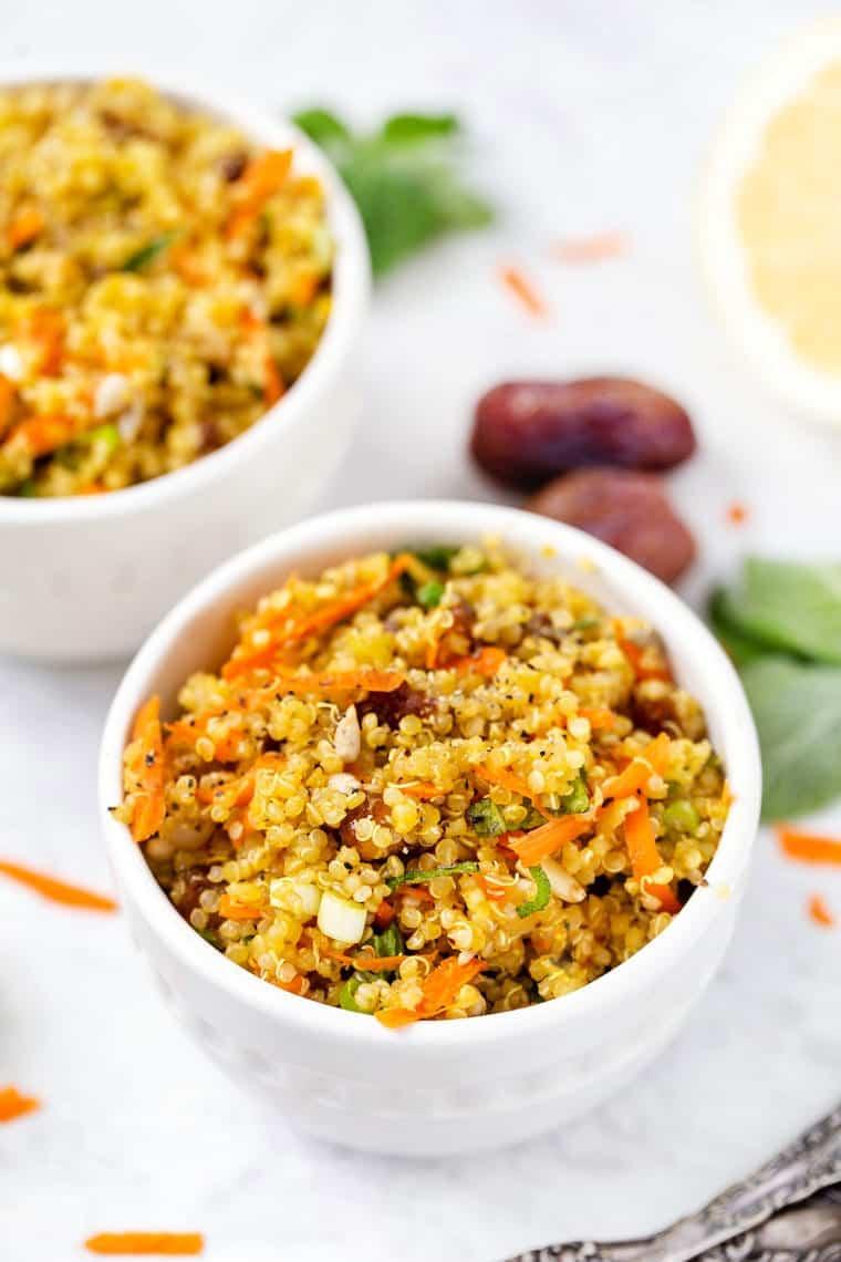 Saffron Middle Eastern Quinoa Salad Simply Quinoa