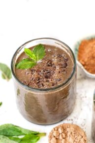 Vegan Chocolate Chip Mint Smoothie Recipe