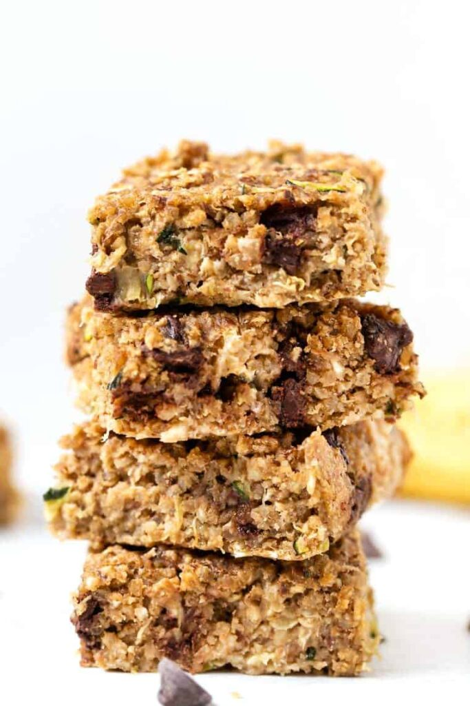 Chocolate Chip Zucchini Breakfast Bars