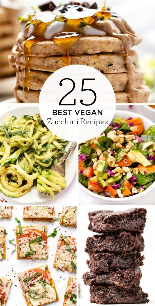 25 BEST vegan zucchini recipes