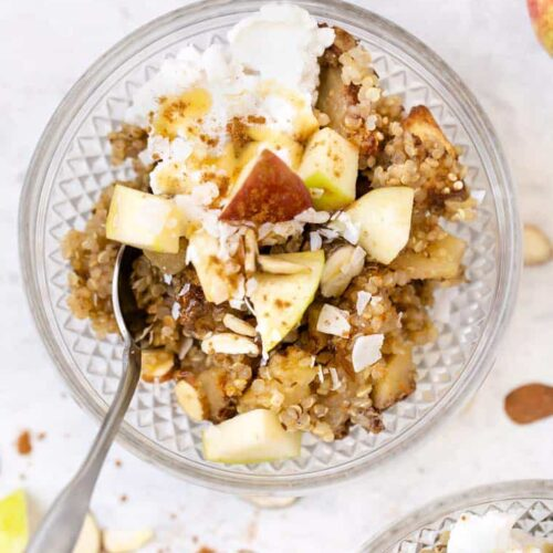 Vegan Quinoa Bake with Apples