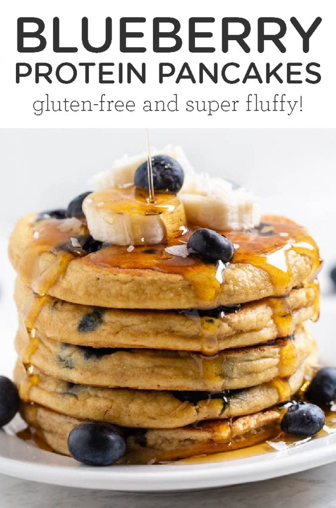 Best Healthy Blueberry Protein Pancakes