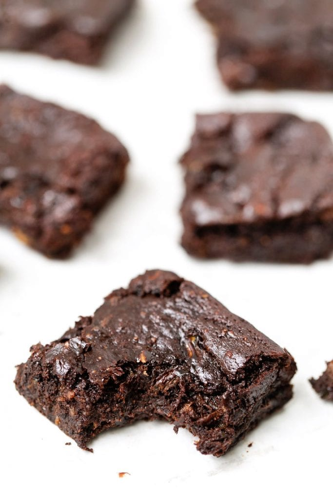 Zucchini Protein Brownies