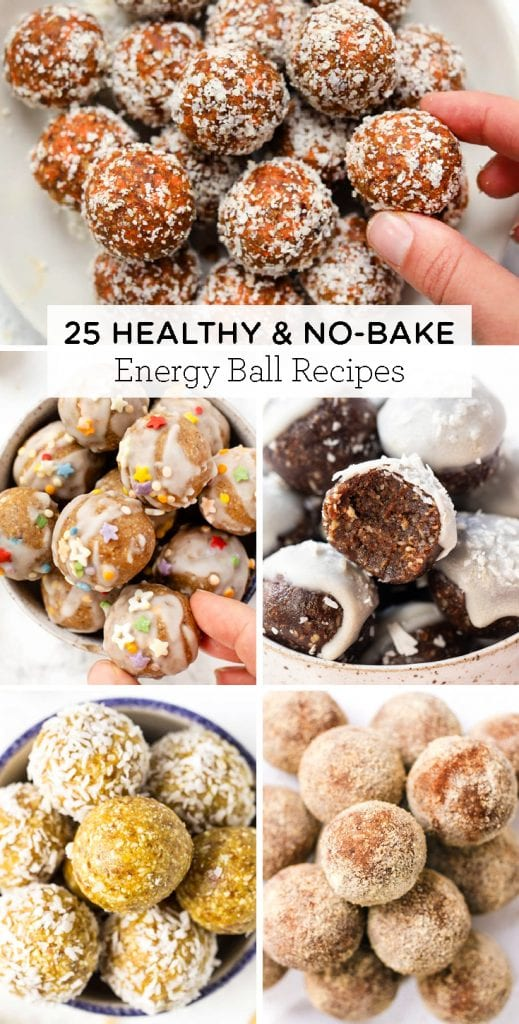 25 healthy & no bake Energy Balls recipes