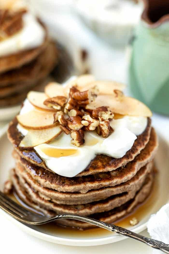 Healthy Apple Cider Pancakes