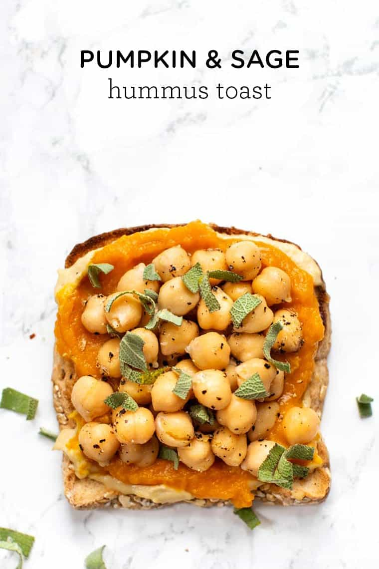 Pumpkin Hummus Toast Recipe