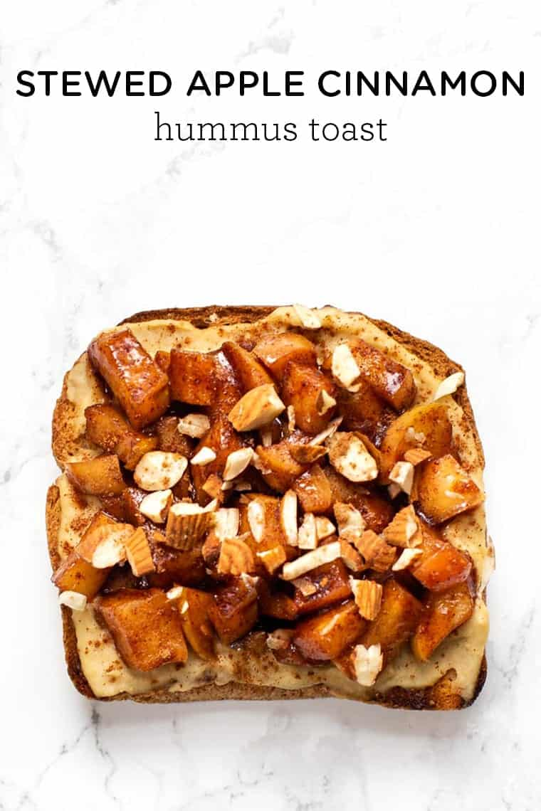 Apple Cinnamon Hummus Toast Recipe