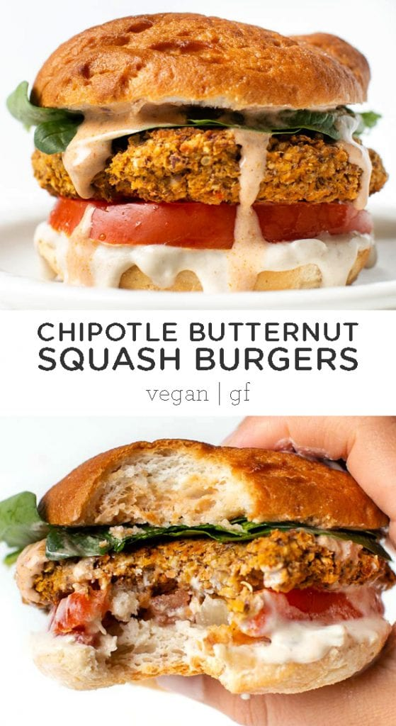 healthy butternut squash white bean burgers