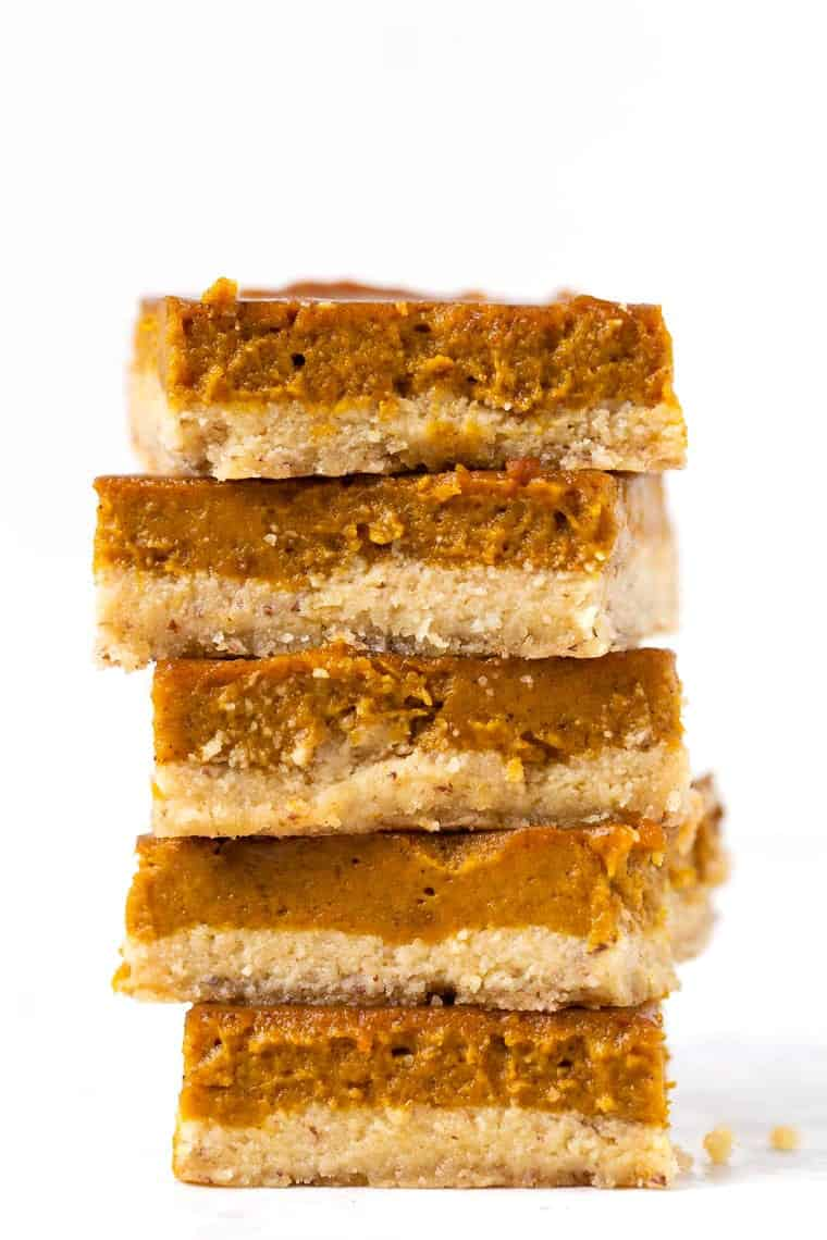Gluten Free Pumpkin Pie Bars Easy Healthy Simply Quinoa