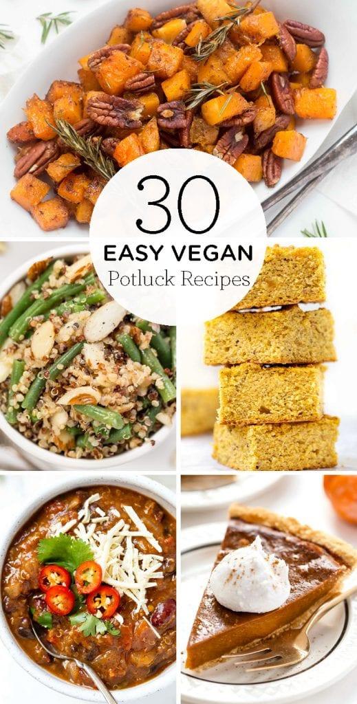 30 quick & easy vegan potluck recipes