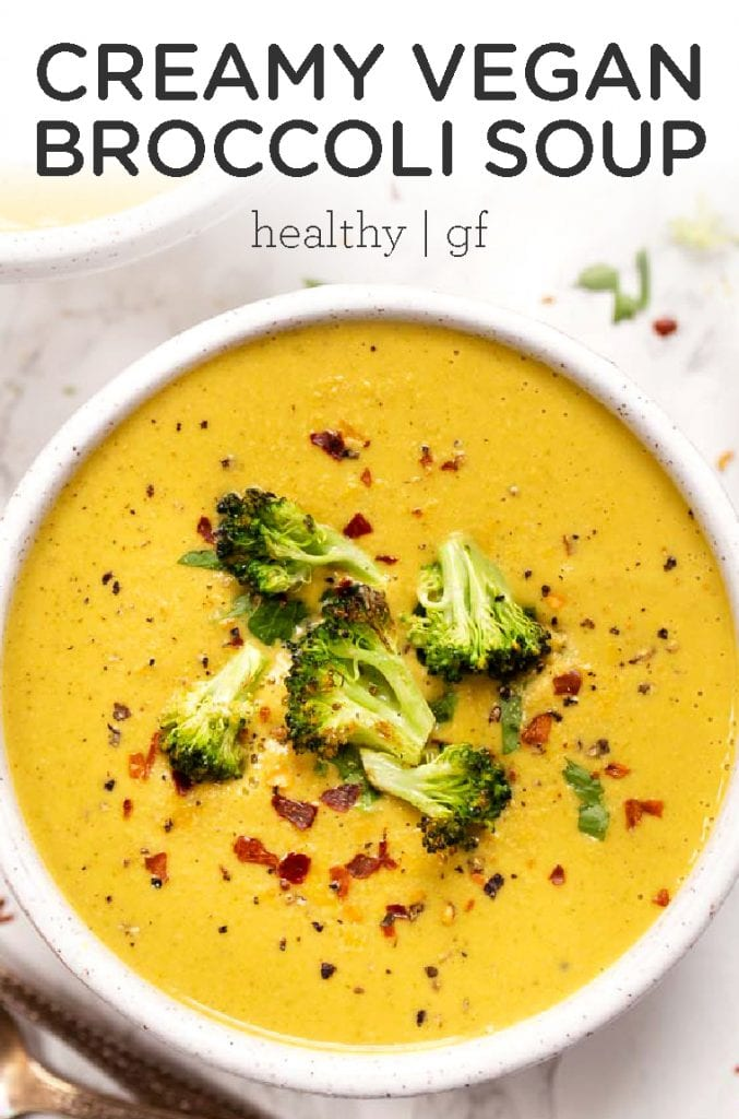 creamy vegan broccoli soup