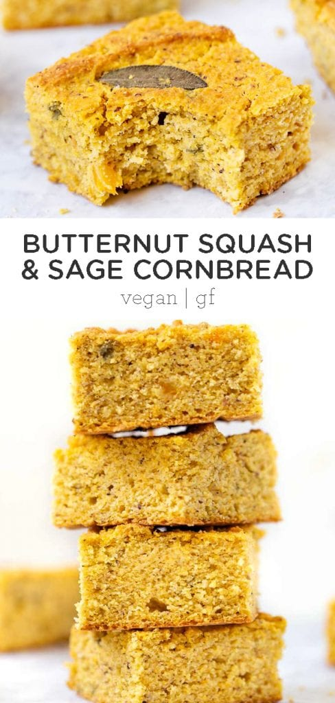 Butternut squash and sage cornbread