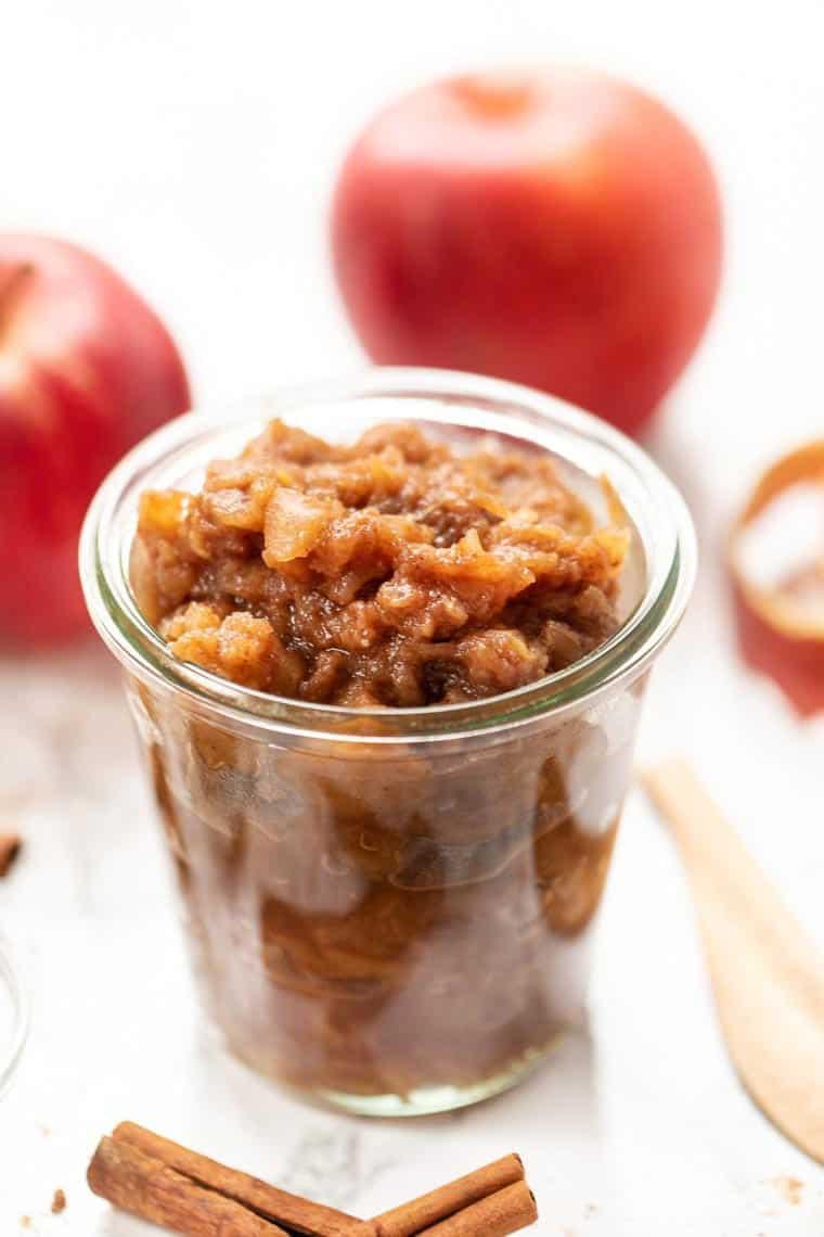 Homemade Chunky Cinnamon Applesauce