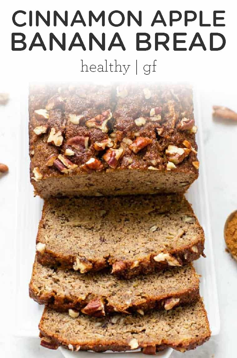 BEST healthy Apple Banana Bread