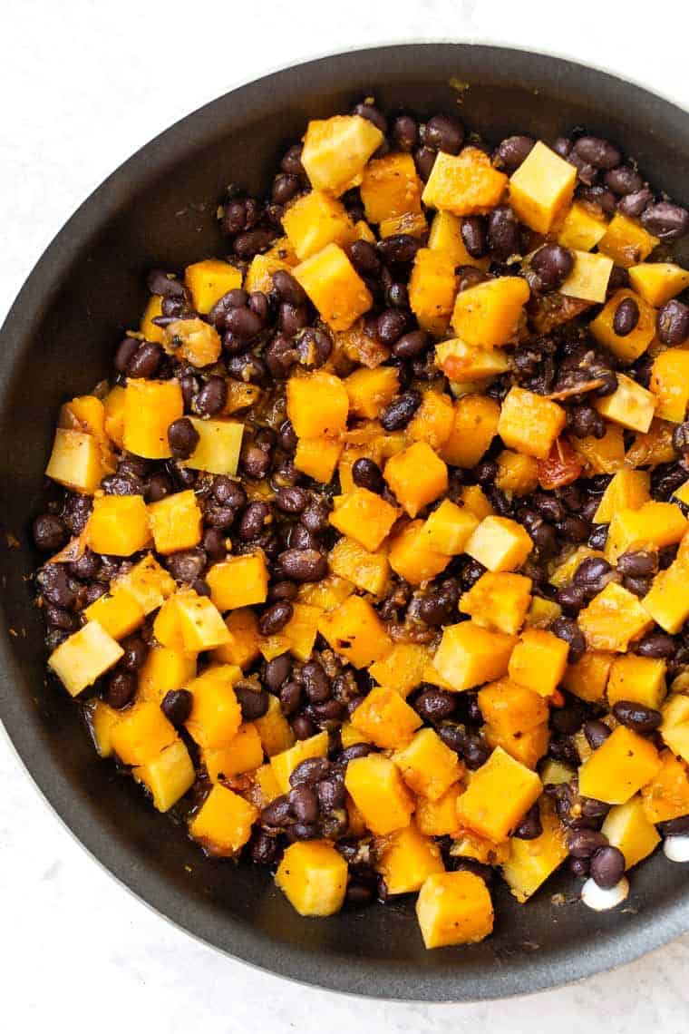 Butternut Squash Black Bean Enchilada Filing