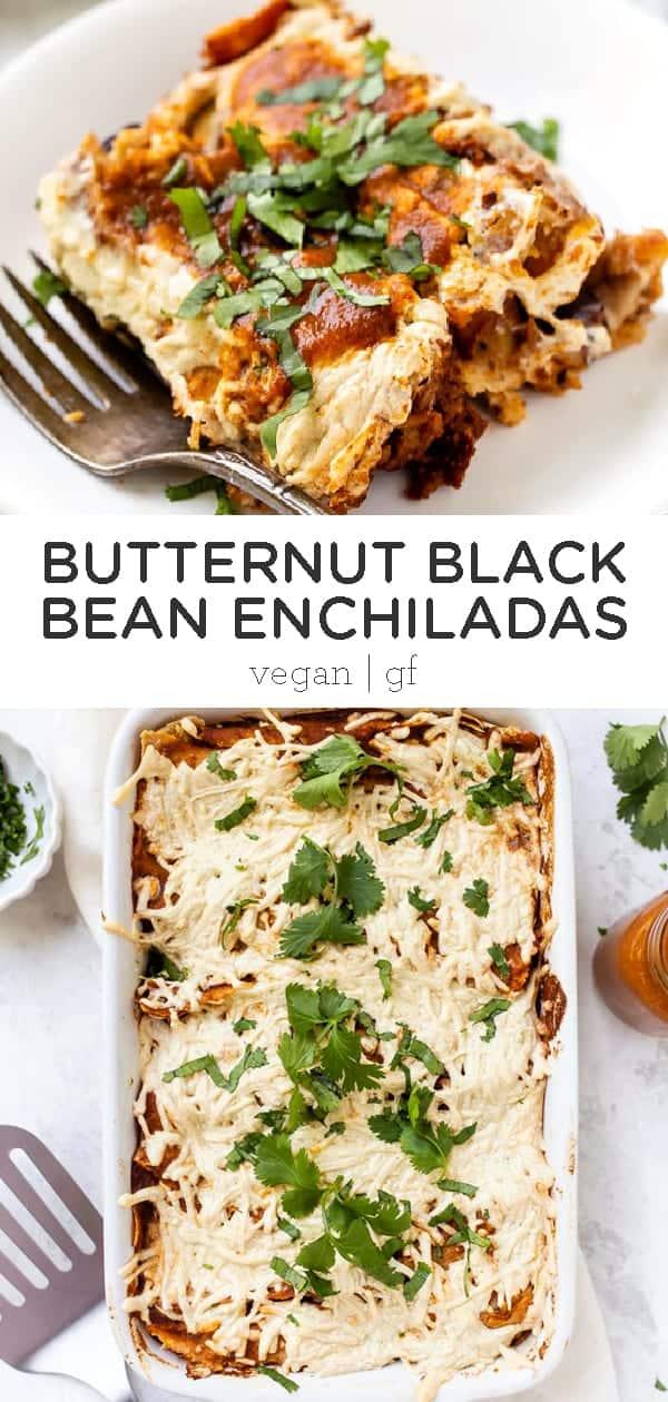 butternut black bean enchiladas