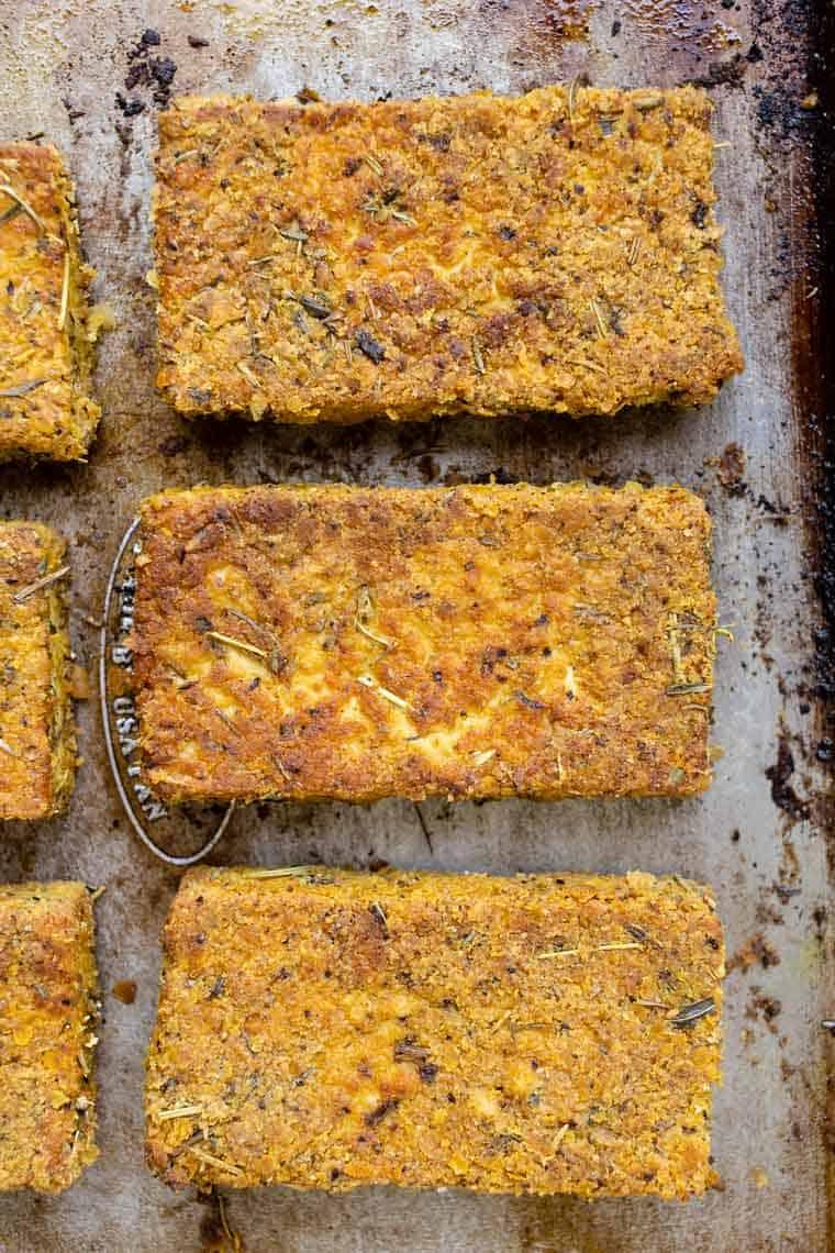 Vegan Thanksgiving Dinner Idea Baked Tofu