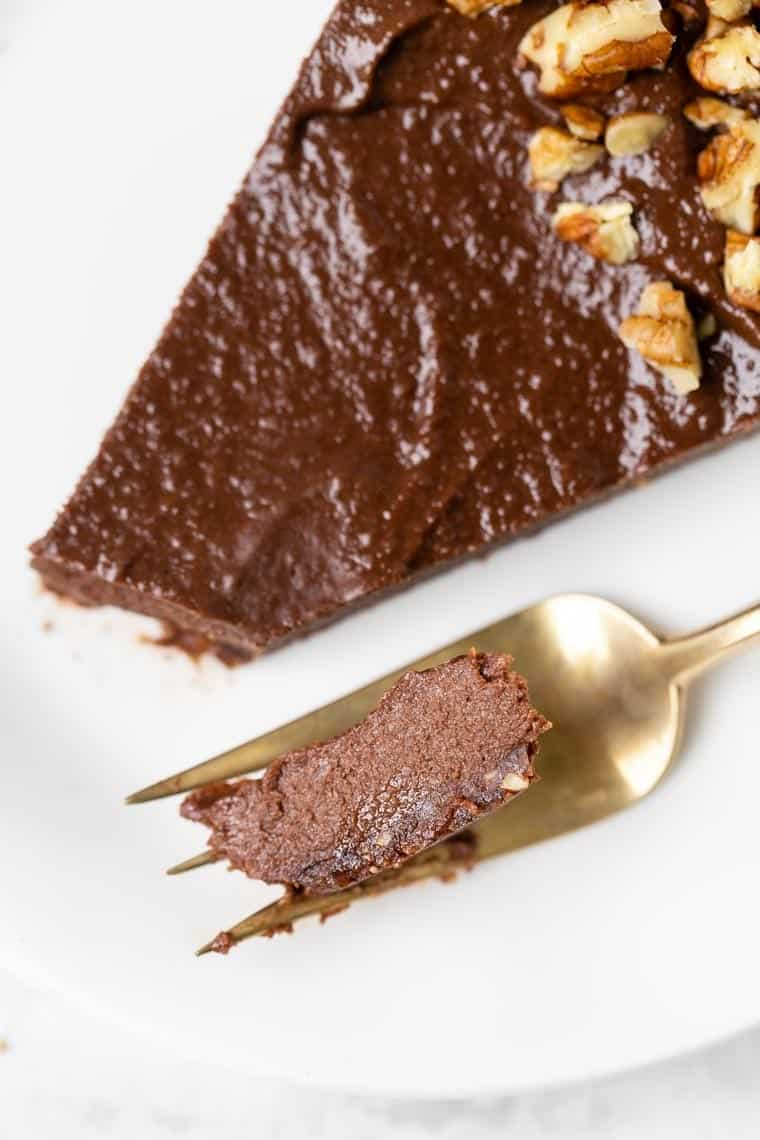 Bite of Vegan Chocolate Tart Filling