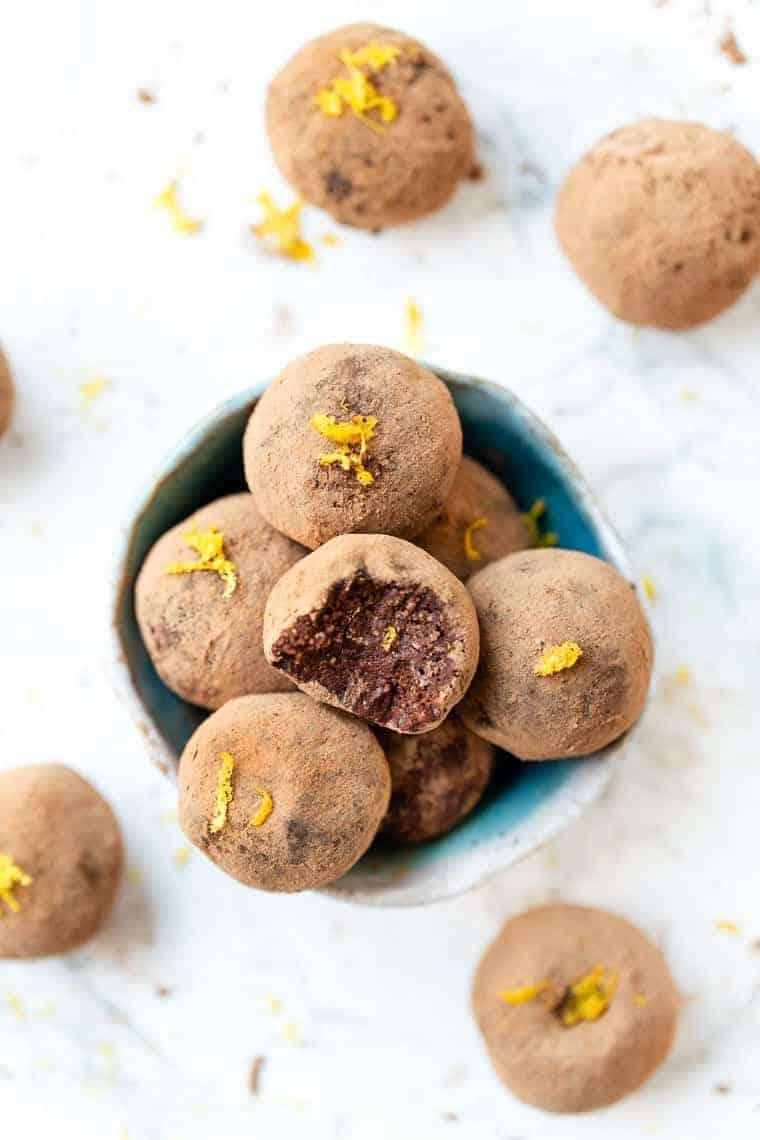No Bake Vegan Chocolate Truffles