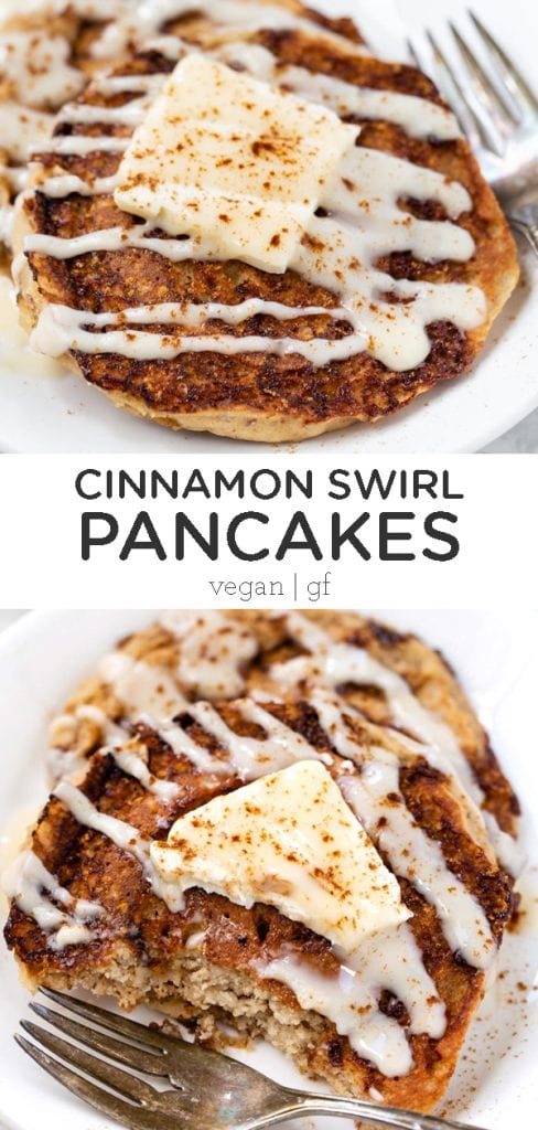 Vegan Cinnamon Swirl Pancakes