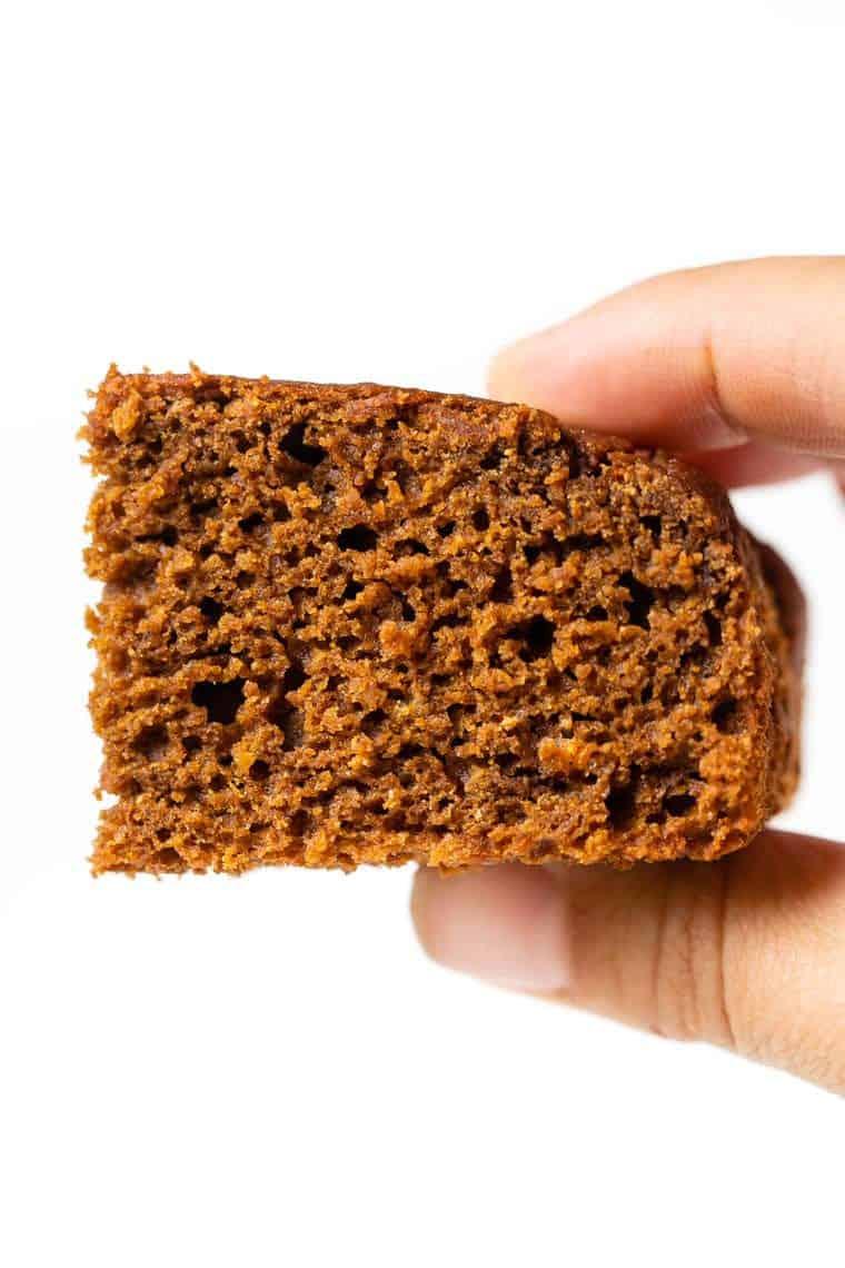 Slice of Gluten-Free Gingerbread Cake