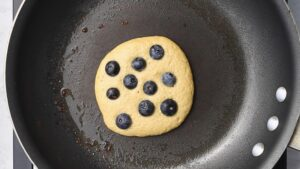 Protein pancake in a skillet.