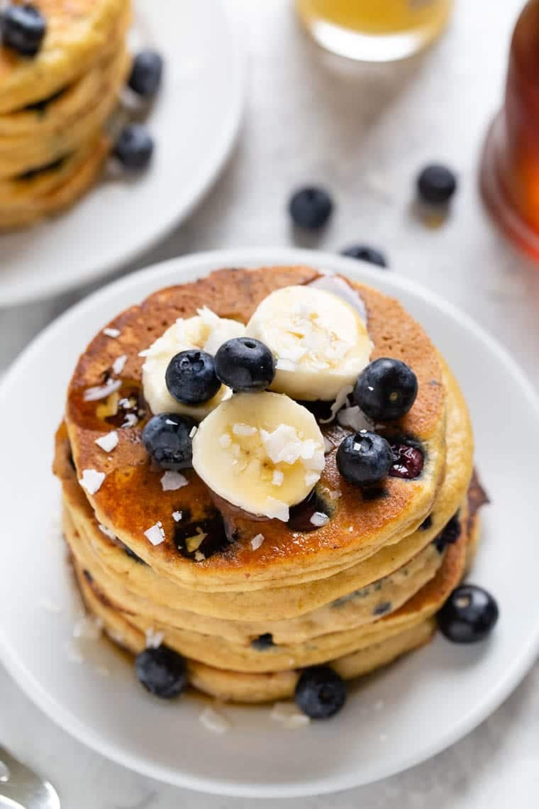 Gluten-Free Protein Pancakes with Blueberries