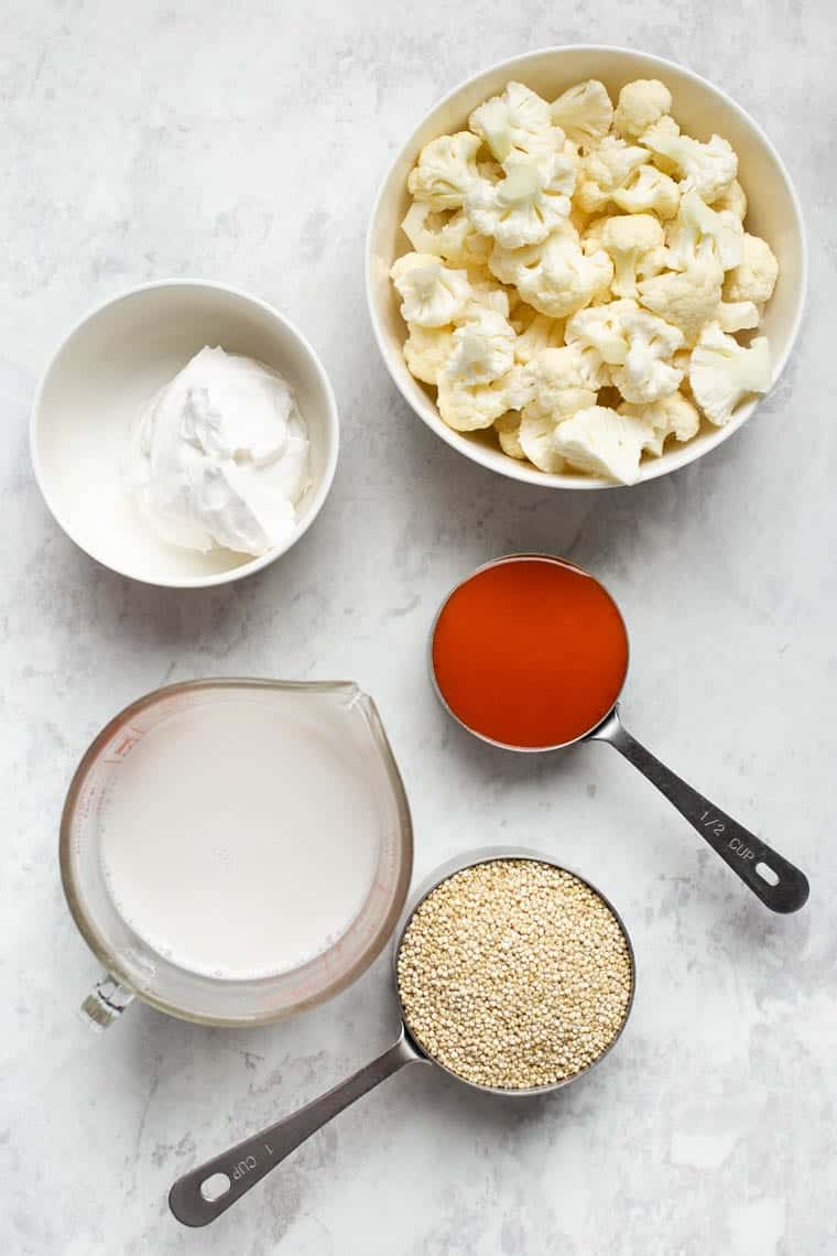 Ingredients for Quinoa Casserole