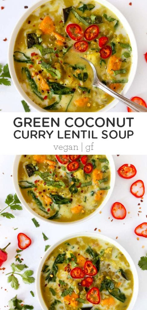 Green Coconut Curry Lentil Soup