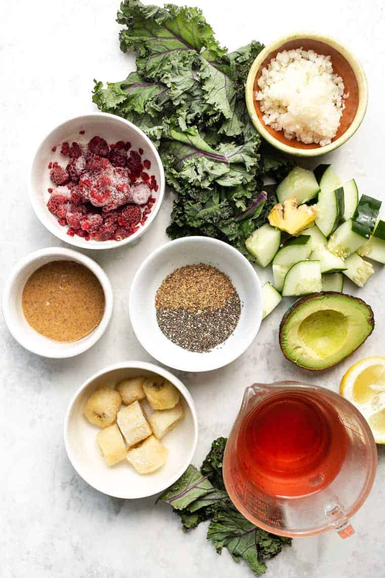 Ingredients to Make Detox Green Smoothie