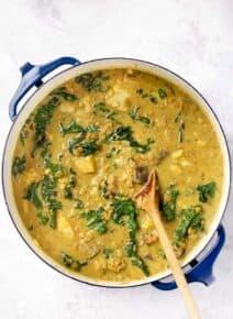 Green Coconut Curry Lentil Soup
