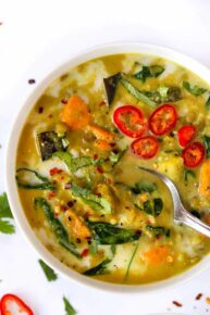 Green Curry Soup with Lentils