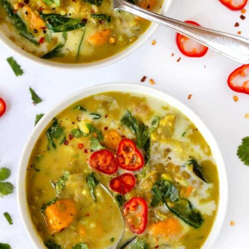 Curry Lentils with Coconut