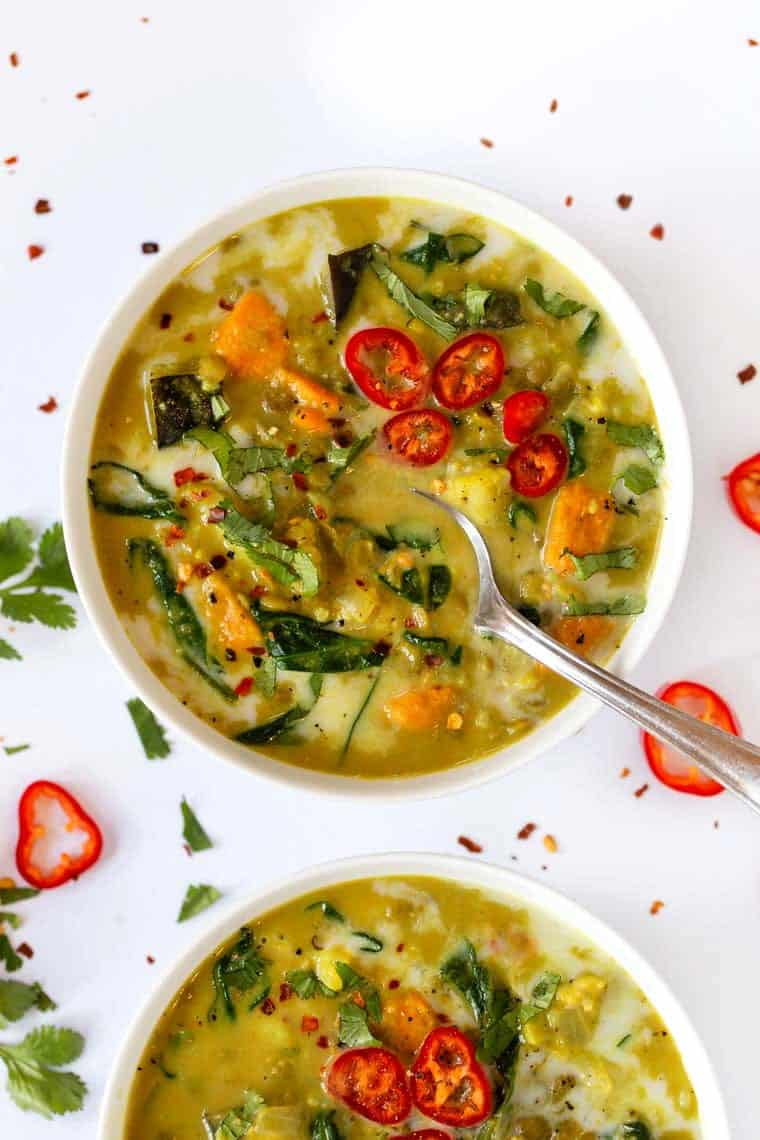 Easy Green Curry Lentil Soup Recipe