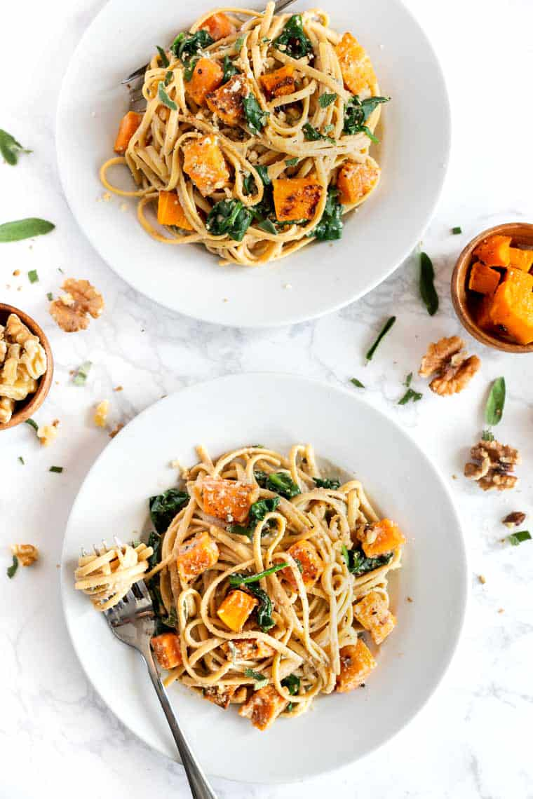 Creamy Walnut Pasta with Butternut Squash