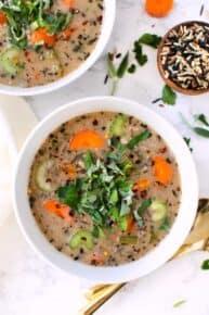 Instant Pot Vegan Wild Rice Soup Recipe