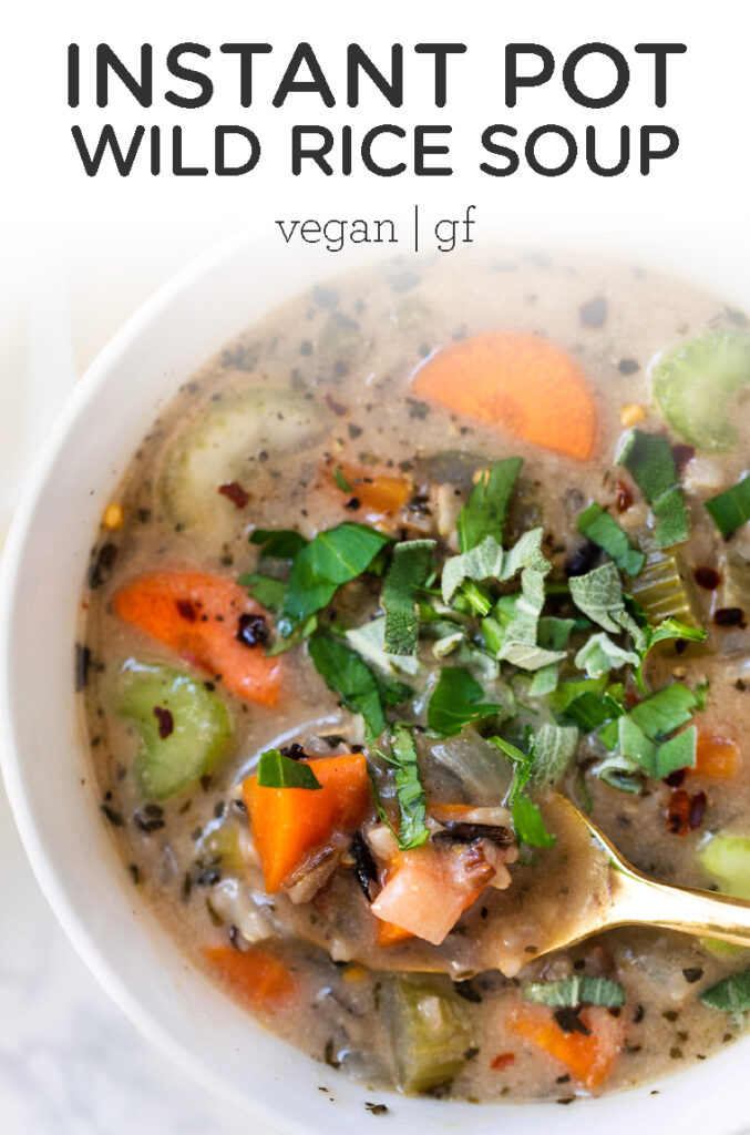 Creamy Vegan Wild Rice Soup