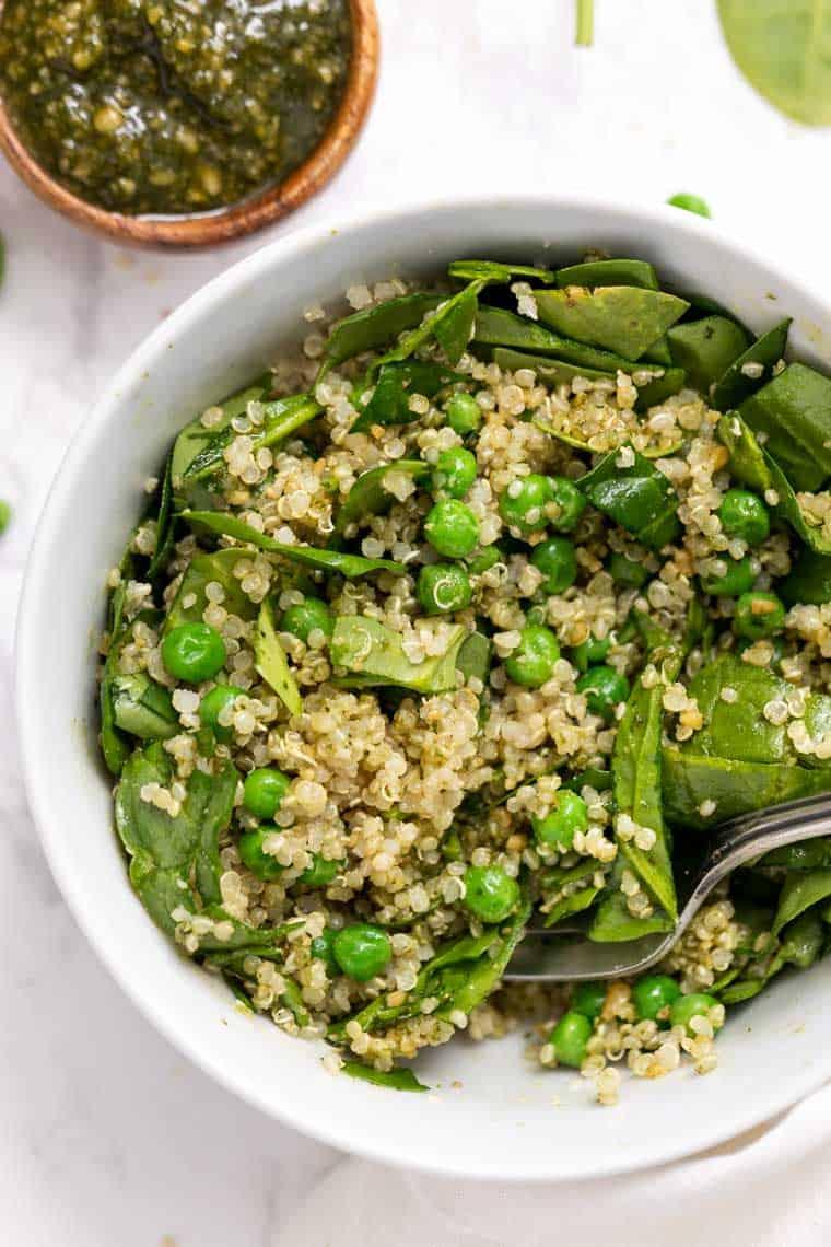 Vegan Pesto Quinoa Bowls