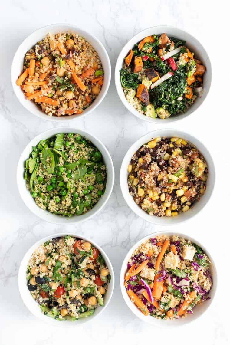 Healthy Quinoa Bowls 6 Ways