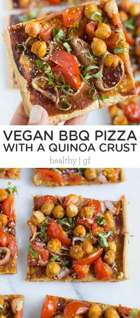 Vegan BBQ Pizza with Quinoa Crust