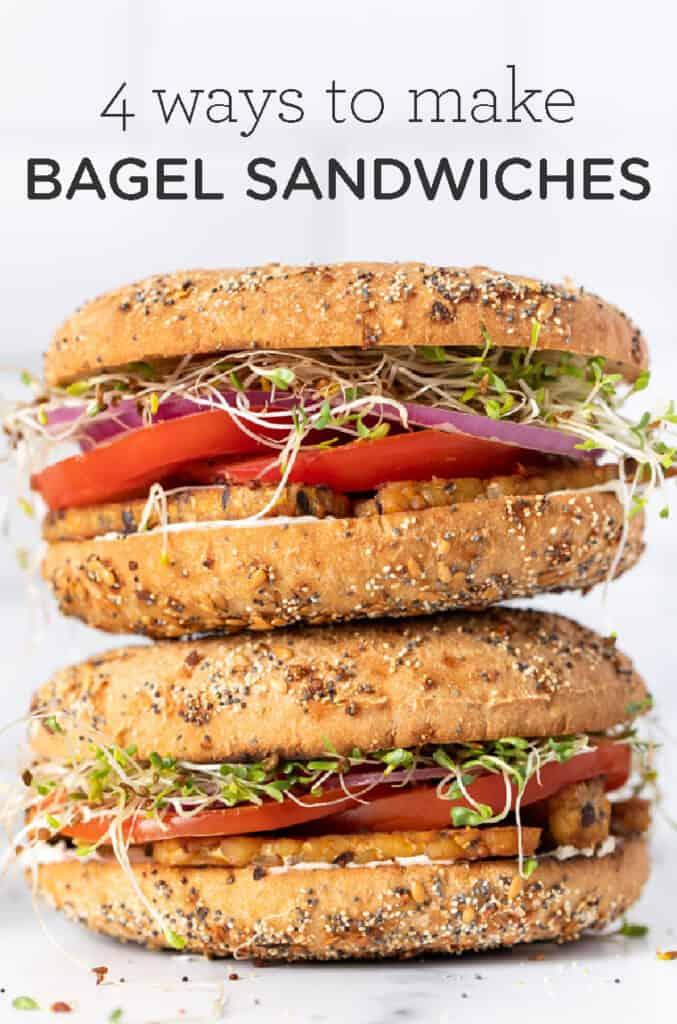 4 Ways to Make Bagel Sandwiches