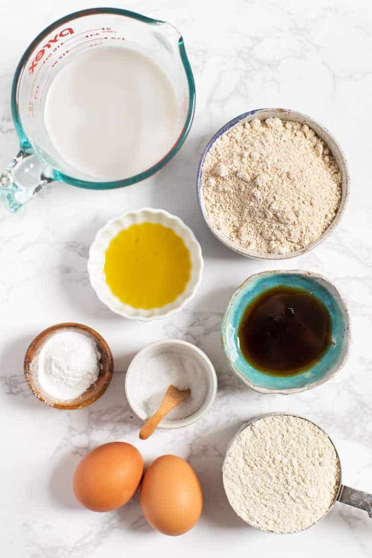 Gluten-Free Pancake Ingredients