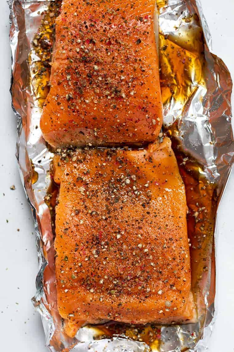 How to make Baked Pepper Salmon
