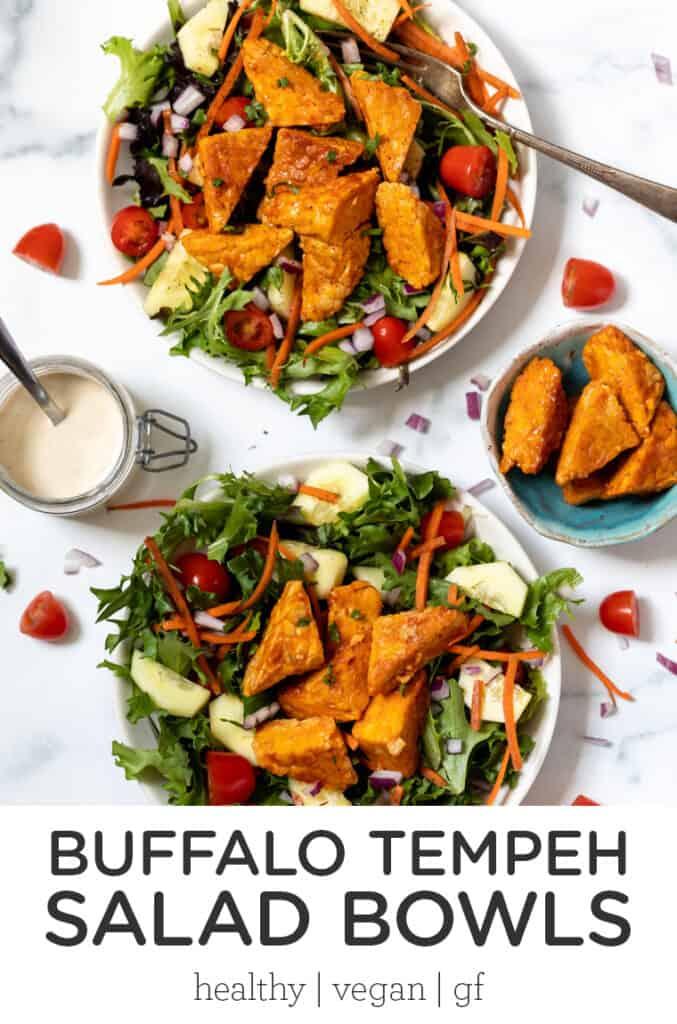Buffalo Tempeh Salad Bowls