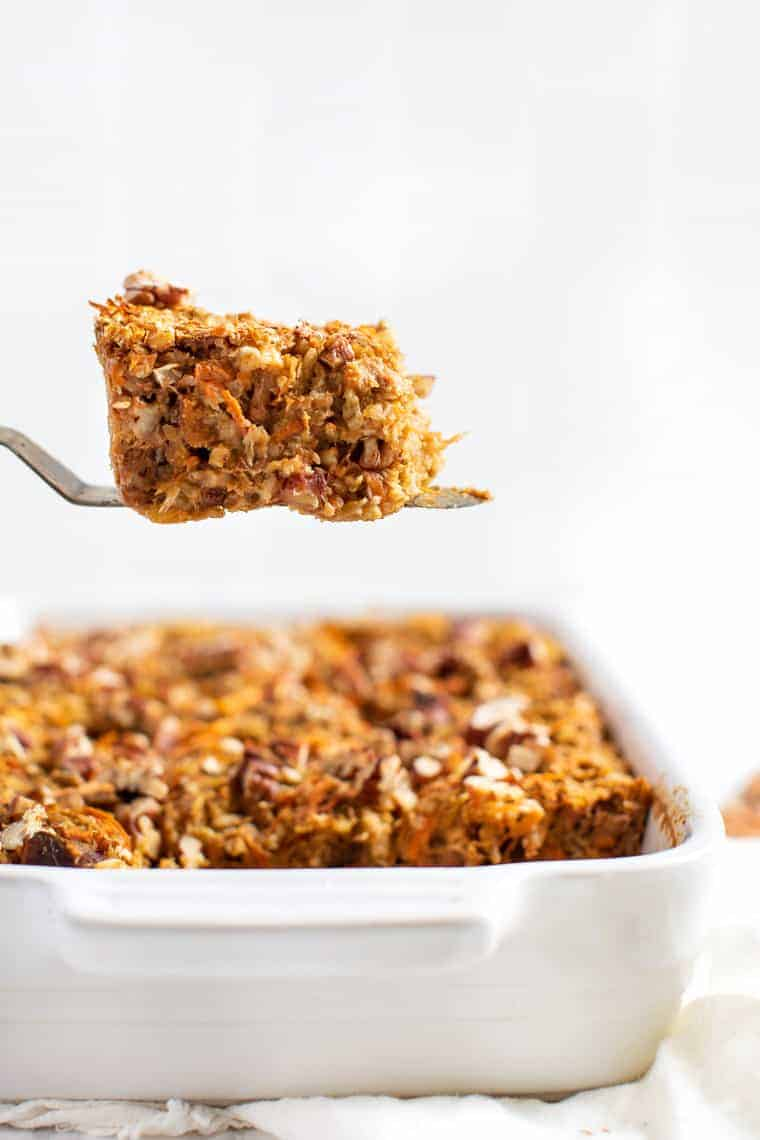 Baked Oatmeal with Carrots