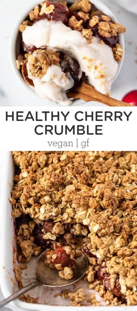 Healthy Cherry Crumble